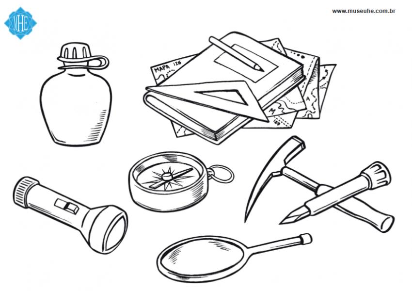 O que tem na mochila de um geólogo?